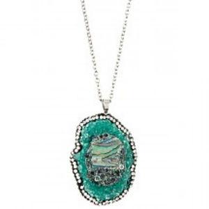 Jewelry - Cracked Stone Pendant